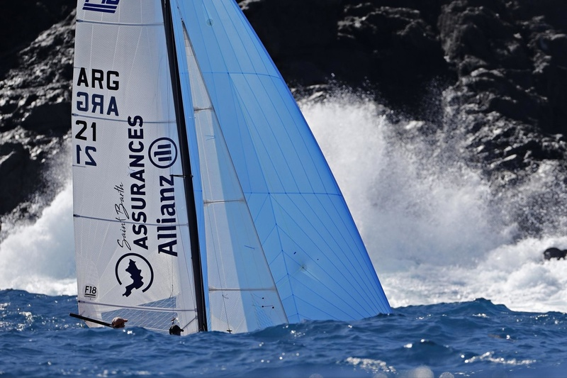 SAINT-BARTH CATACUP 2019 : Grand Prix St-Barth Assurance - Allianz : ST BARTH ASSURANCES -  ALLIANZ : Pablo VOLKER, Sergio MEHL (ARG-21) © Pascal Alemany