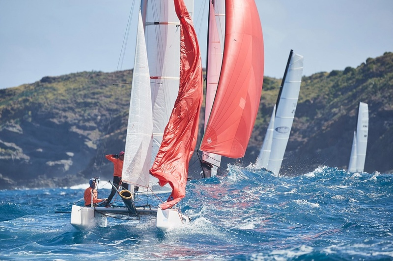 SAINT-BARTH CATACUP 2019 : Grand Prix St-Barth Assurances - Allianz : SIBARTH : Bernard SILLEM , Lea URVOIX (74), WELCOME CAR RENTAL : Pierre ALTIER, Raphael CHEDAL (SXM117) © Michael Gramm