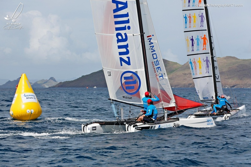 SAINTBARTH CATA-CUP 2016 : Prix St Barth Assurances - Allianz  : St Barth Assurances Allianz 1 : Mitch Booth, Andy Dinsdale © Alain Blanchard